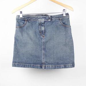 J Crew Womens Skirt Mini Denim Jean Pockets Size 6
